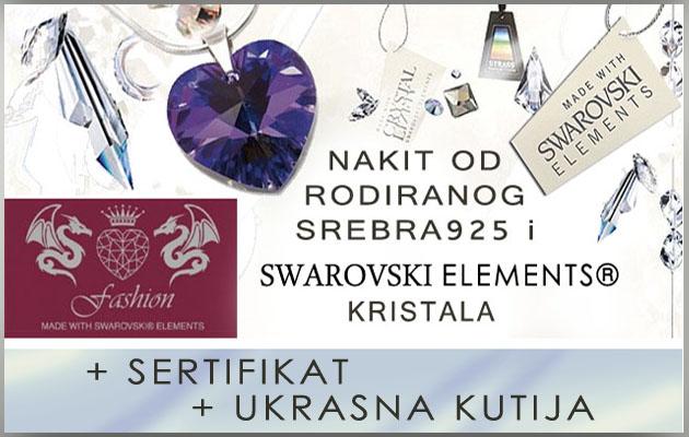 Nakit od srebra 925 i Swarovski elemenata